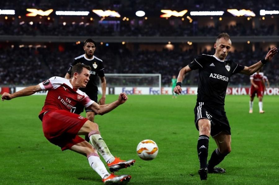 Карабах в матчах против Арсенала и Спортинга не забил ни одного гола