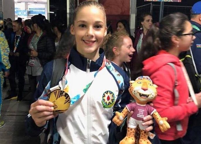 Gimnastımız olimpiadada qızıl medal qazandı