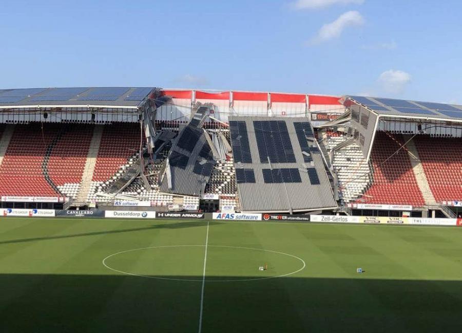 """Məşhur klubun stadionunun damı çökdü - <b style=""""color:red""""> Şəkil</b>"""