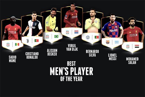 Messi, Van Deyk, Ronaldo - namizədlər açıqlandı