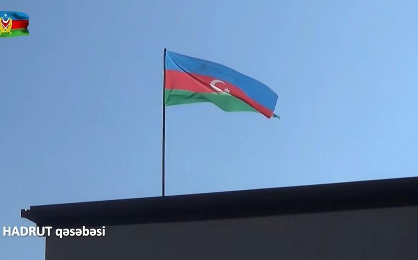 Azərbaycan bayrağı Hadrutda dalğalandı -