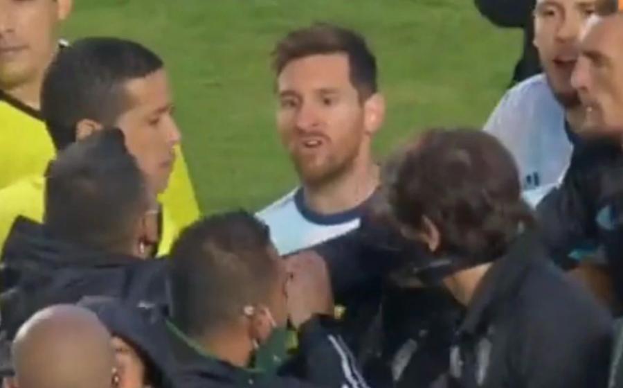 Messi məşqçi ilə mübahisə etdi -