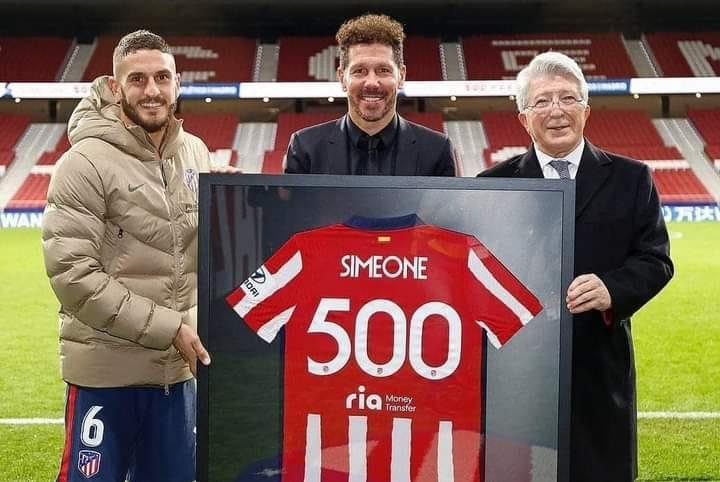 Simeone 500-ə çatdı -