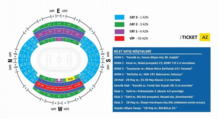 DÇ 2018: Azərbaycan - Çexiya oyununun biletləri satışda