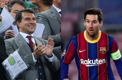 Laporta Messi üçün danışıqlara başlamayıb