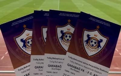 """""""Qarabağ""""ın oyununa satılan bilet sayı"""