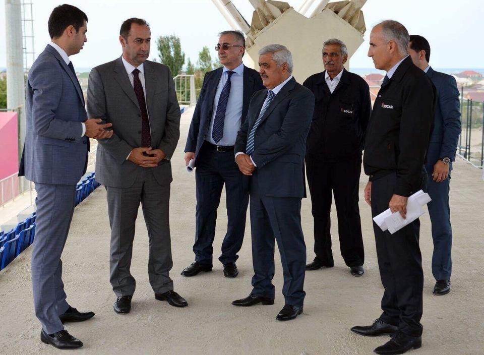 """AFFA prezidenti """"Sumqayıt""""ın bazasında (Qalereya)"""